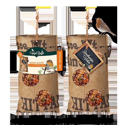 Vogel-Buffet hängen für Rotkehlchen und Finken
