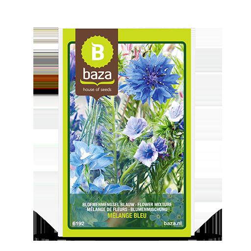 Bloemenmengsel Blauw
