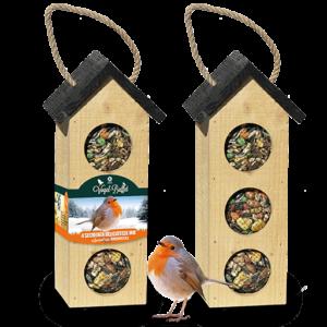 Vogel-Buffet Chalet 3 Rotkehlchen und Finken